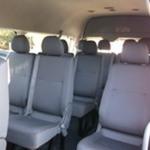 Toyota Hiace Commuter deluxe bus inside